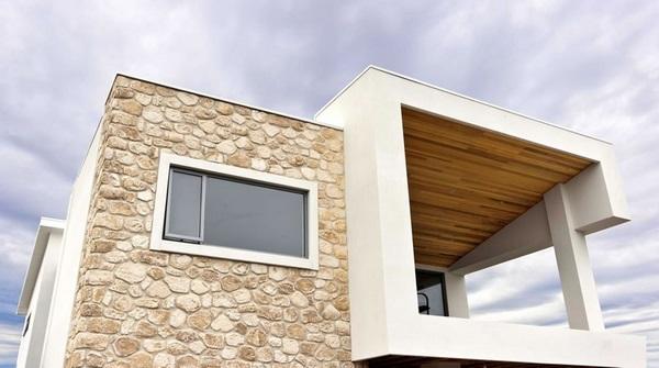 اجرای انواع نمای سنگی ساختمان یک طبقه